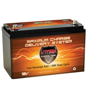 VMax 12V 125AH Solar Charge Tank Deep Cycle Battery -0