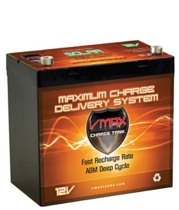 VMax 12V 60AH Solar Charge Tank Deep Cycle Battery -0