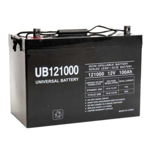 UPG 12V 100AH Sealed Lead-Acid Deep Cycle Battery Tank-0