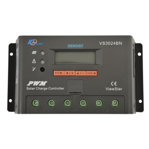 Renogy ViewStar 20 Amp PWM Charge Controller with LCD Display -0