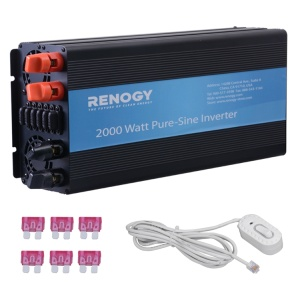 Renogy 2000W Off-Grid Battery Power Inverter with Cables-495
