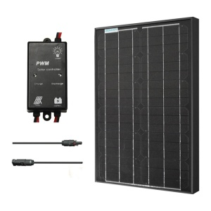 Renogy 30W Monocrystalline Solar Panel Bundle Black-0