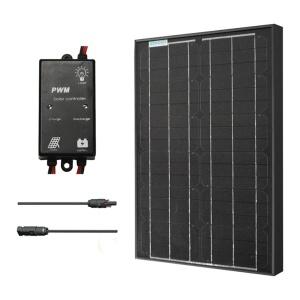 Renogy 30W Monocrystalline Solar Panel Bundle Black-0