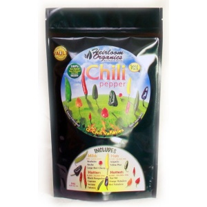Heirloom Organics Chili Pepper Variety Seed Pack-0