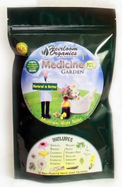 Heirloom Organics Family Medicine Variety Seed Pack-0