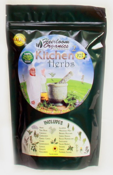 Heirloom Organics Professional Kitchen Herb Seed Pack-0