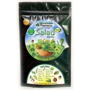 Heirloom Organics Salad Variety Seed Pack-0