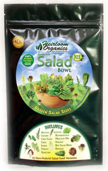 Heirloom Organics Salad Variety Seed Pack-0
