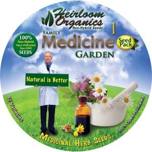 Heirloom Organics Family Medicine Variety Seed Pack-671