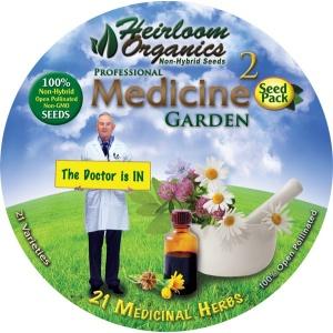 Heirloom Organics Professional Medicine Herb Variety Seed Pack-669