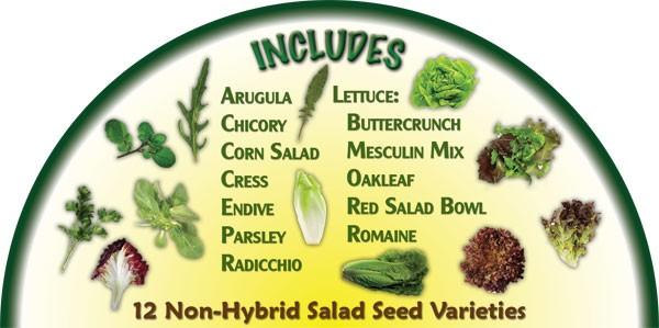 Heirloom Organics Salad Variety Seed Pack-661