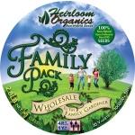 Heirloom Organics Family Variety Seed Pack Vault-681