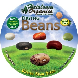 Heirloom Organics Drying Beans Seed Pack-648