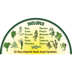 Heirloom Organics Family Kitchen Herb Variety Seed Pack-673