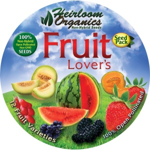 Heirloom Organics Fruit Lover's Seed Pack-646