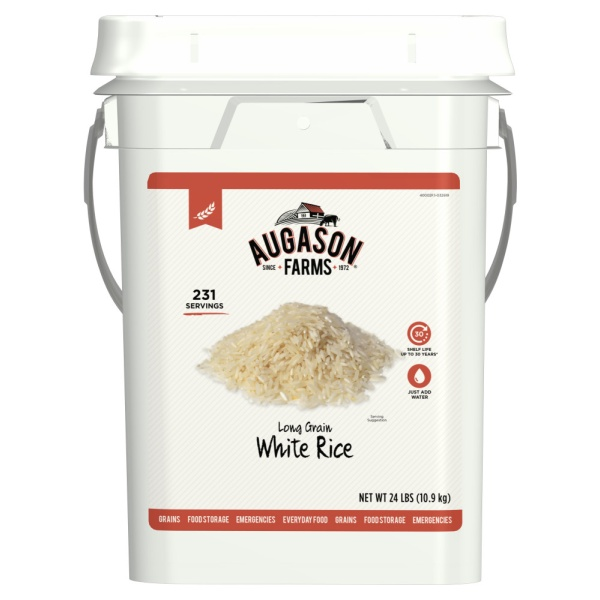 Augason Farms White Rice Bucket