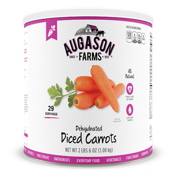 Dehydrated Diced Carrots 29 Servings Can-0