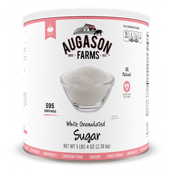 White Granulated Sugar 595 Servings Can-0