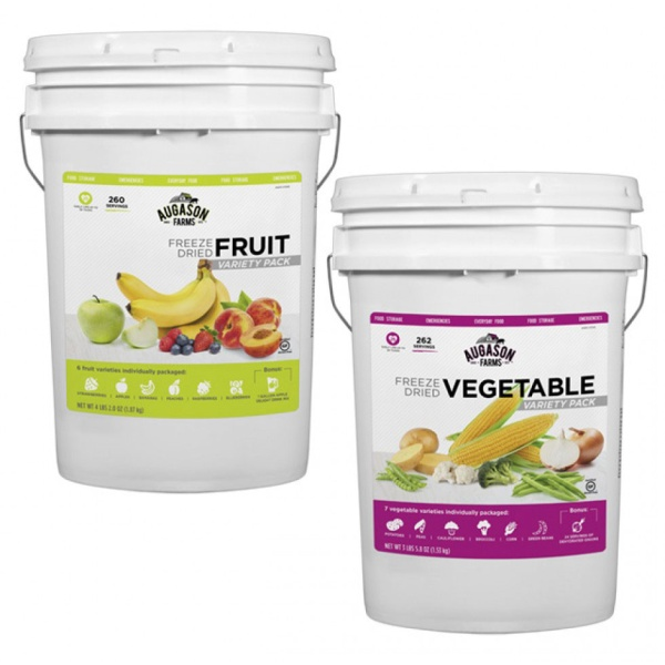 Freeze Dried Fruit and Vegetable Pack - Two 6 Gallon Pails-0