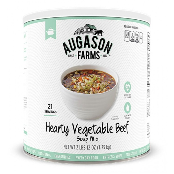 Hearty Vegetable Beef Soup 21 Servings-0