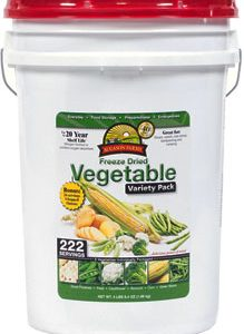 Freeze Dried Vegetable Variety Pail-0