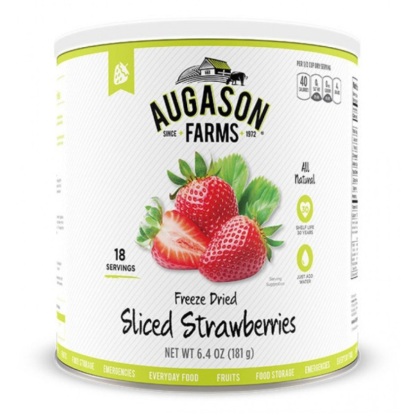Freeze Dried Sliced Strawberries18 Servings Can-0
