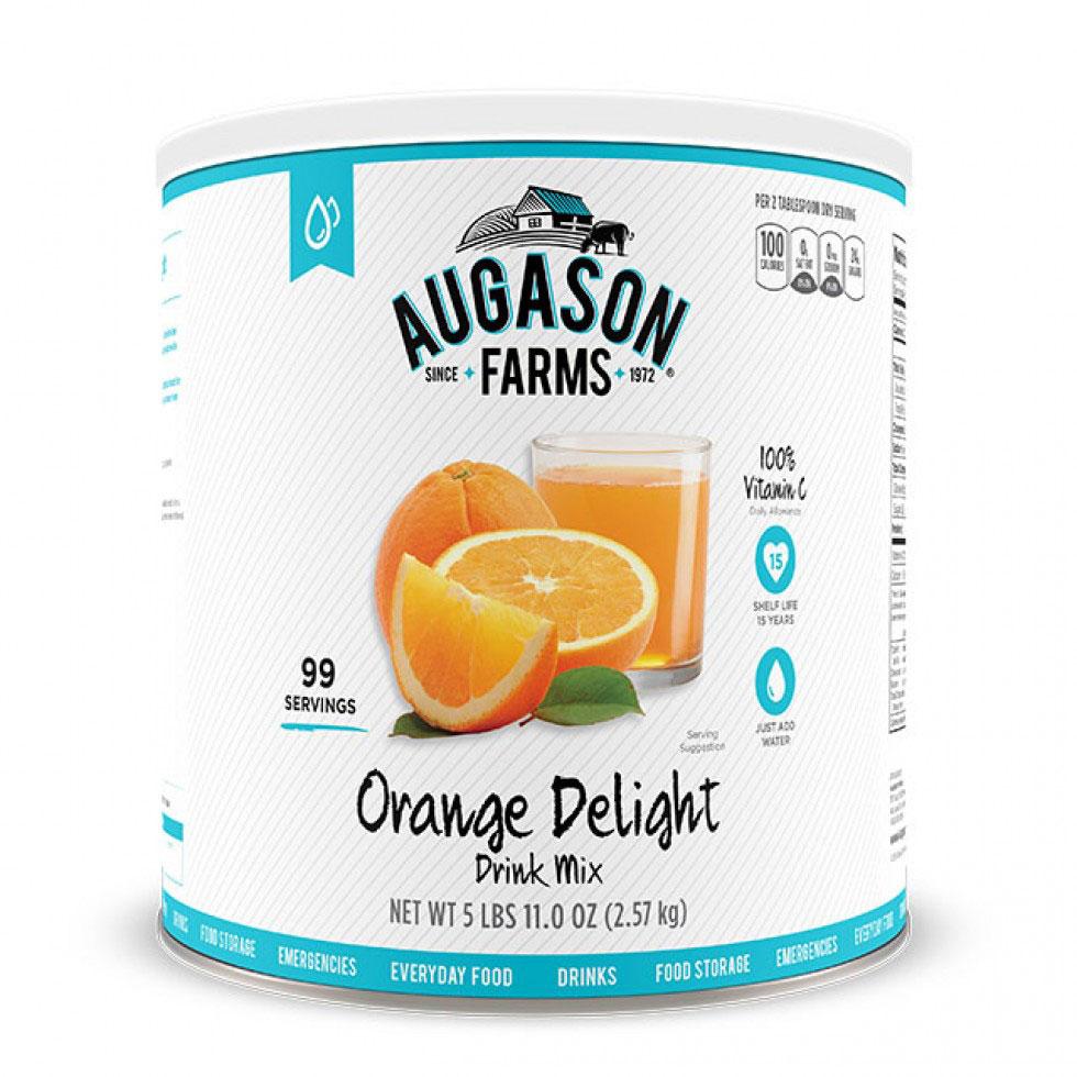 Drink Orange Delight 91oz Can Gluten Free | Augason Farms