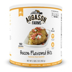 Bacon Flavored Bits Vegetarian Meat Substitute 192 Servings Can-0