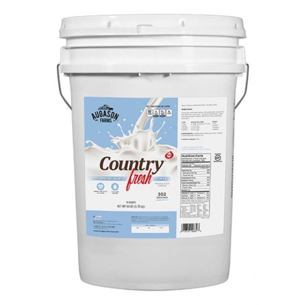 100% Non-Fat Instant Milk 14lb 6 Gallon Pail-0