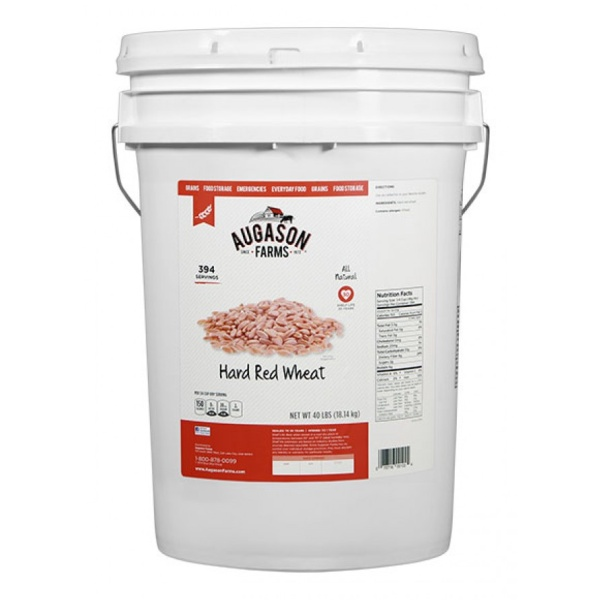 Hard Red Wheat 40lb 6 Gallon Pail-0