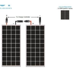 Renogy 200w Monocrystalline Premium Kit-1462