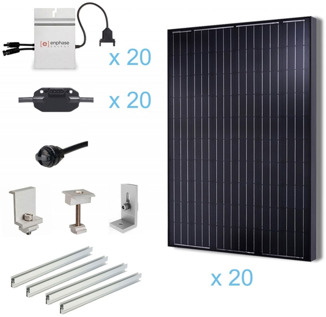 Renogy 5kw Grid Tied Complete Solar Kit Solar Power For