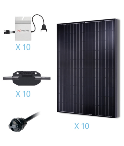 Renogy 2.5KW Grid-Tied Basic Solar Kit -0