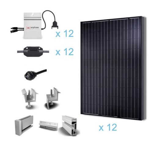 Renogy 3KW Grid-Tied Complete Solar Kit-0