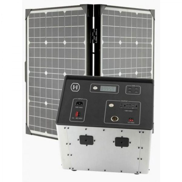 1500 Series Solar Generator Kit 0.64kWh by Humless with EMP Bag, 2 Panels, & 2 Extension Cords-2110