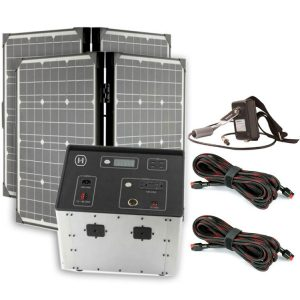 1500 Series Solar Generator Kit 0.64kWh by Humless with 2 Panels, & 2 Extension Cords-0