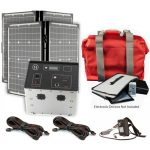 1500 Series Solar Generator Kit 0.64kWh by Humless with EMP Bag, 2 Panels, & 2 Extension Cords-0