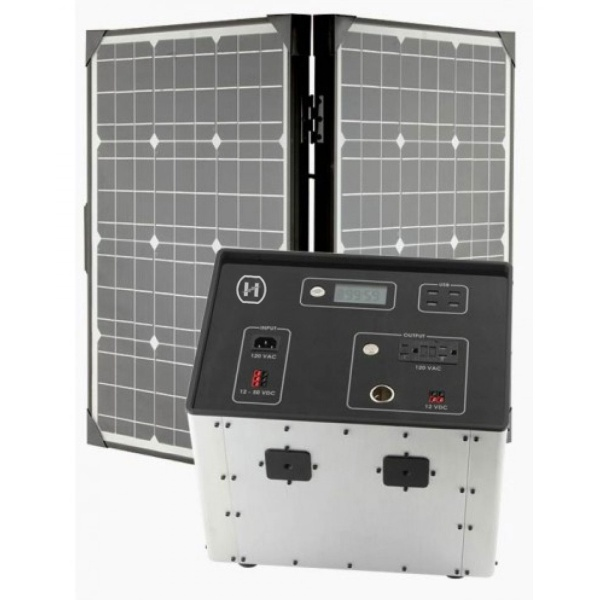 1500 Series Solar Generator Kit 0.64kWh by Humless with 3 Panels, & 3 Extension Cords-2093