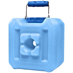 WaterBrick Half Blue - Holds 127 Servings-0