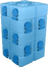 WaterBrick Standard Blue 10 Pack - Holds 2640 Servings-0