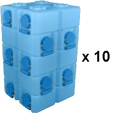 WaterBrick Standard Blue 100 Pack - Holds 26,400 Servings-0
