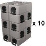 WaterBrick Standard Tan 100 Pack - Holds 26,400 Servings-0