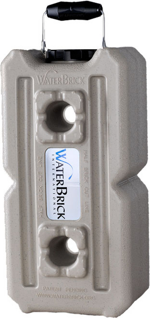 WaterBrick Standard Tan - Holds 264 Servings-0