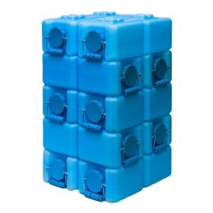 blue water bricks