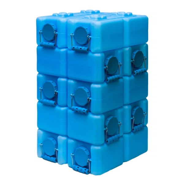 blue water bricks