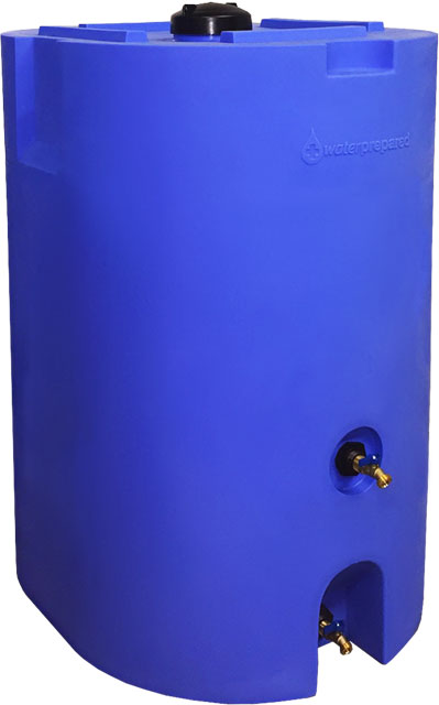 Blue 160 Gallon Water Storage Tank-0