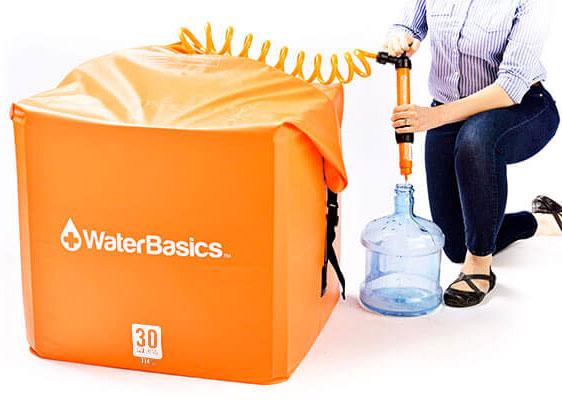 WaterBasics 30 Gallon Water Storage Kit with Filter-1757