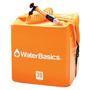 WaterBasics 30 Gallon Water Storage Kit with Filter-0