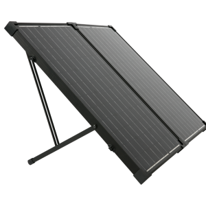 Humless 12V Foldable 130 Watt Solar Panel Suitcase-0
