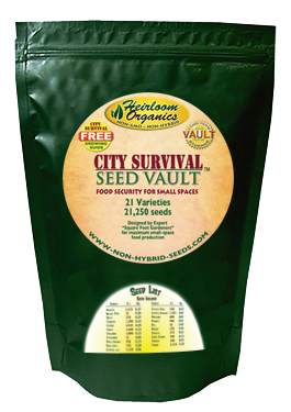 Heirloom Organics City Survival Seed Vault-0